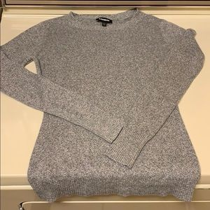Express marked gray crew neck sweater